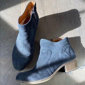 Lucky Brand Navy Blue Booties